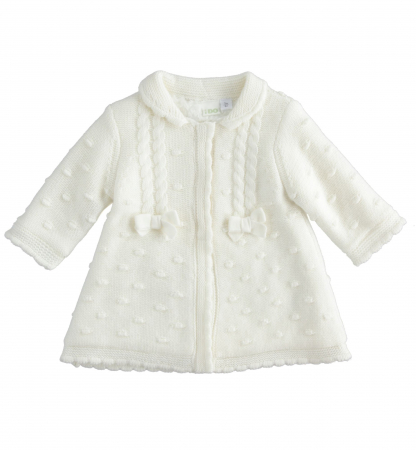 iDO Palton tricotat, captusit cu blanita, crem, 0-18 luni0