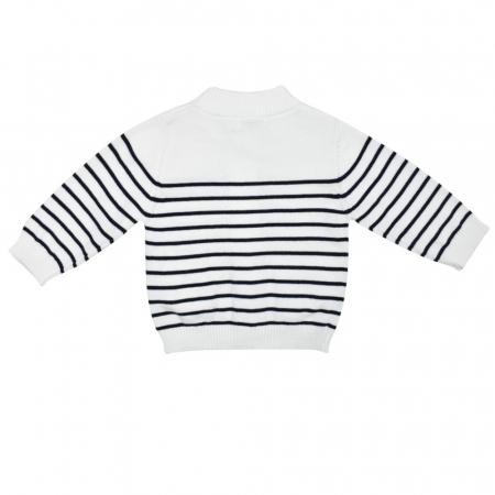 Jacheta tricot baiat cu dungi bleumarin, Babybol [1]