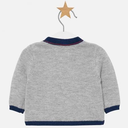 Jacheta tricot tip cardigan bebe baiat, gri , Mayoral [1]