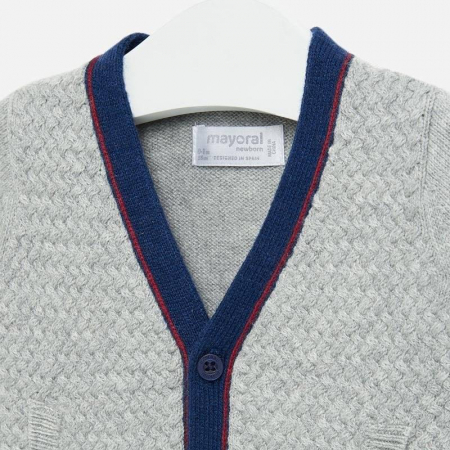 Jacheta tricot tip cardigan bebe baiat, gri , Mayoral [2]