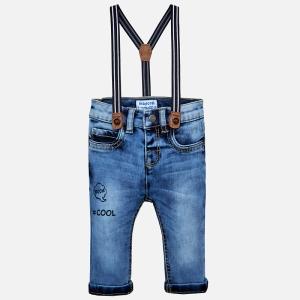Jeans baiat cu bretele Mayoral0