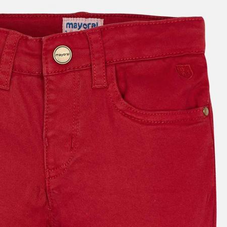 Mayoral Pantaloni baieti regular fit, rosii3