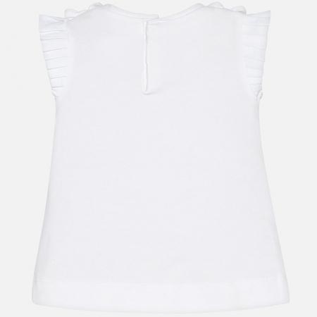 Mayoral - Tricou fete maneca scurta, alb, 6-36 luni1