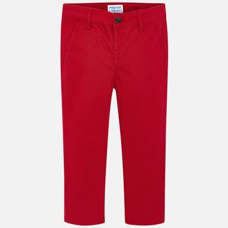 Pantalon baieti Mayoral, chino slim, rosu1