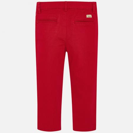 Pantalon baieti Mayoral, chino slim, rosu [2]