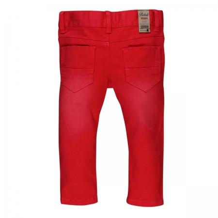 Pantaloni lungi slim fit bebe baiat, rosu1