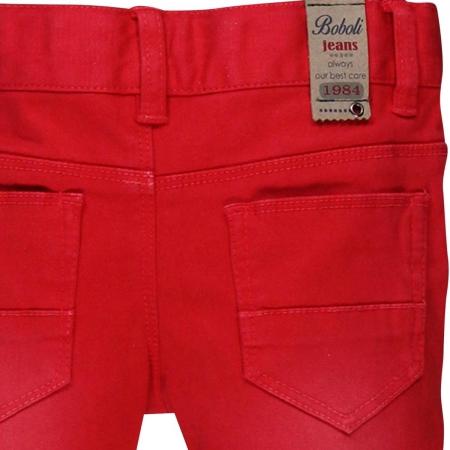 Pantaloni lungi slim fit bebe baiat, rosu2