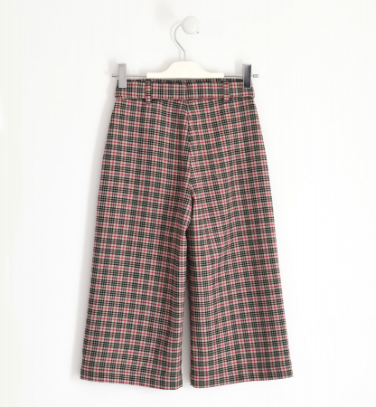 Pantalon fete 3/4 stofa, carouri fine, iDO1
