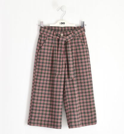 Pantalon fete 3/4 stofa, carouri fine, iDO0