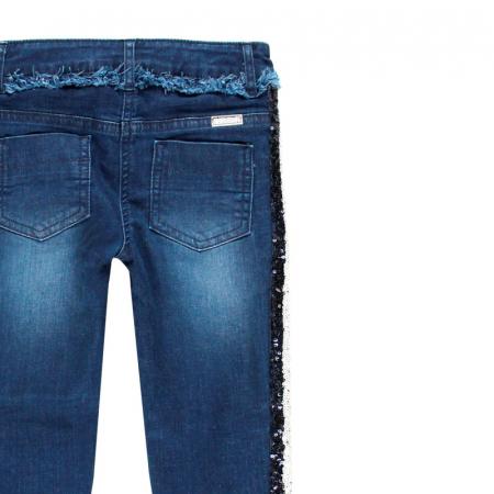 Pantalon jeans fete 8-16 ani cu strasuri , Boboli3