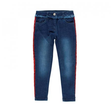 Pantalon jeans fete 8-16 ani cu strasuri , Boboli0