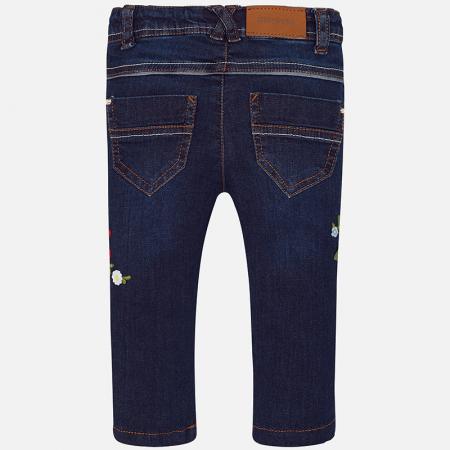 Pantalon jeans fete cu broderie flori, Mayoral1