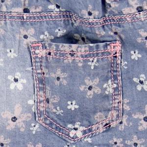 Pantalon jeans scurt fete Boboli3