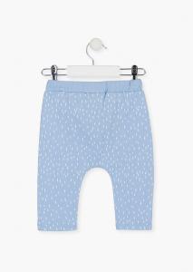 Pantalon lung bebe baiat bumbac, bleu, Losan1