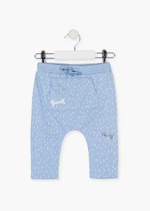 Pantalon lung bebe baiat bumbac, bleu, Losan0