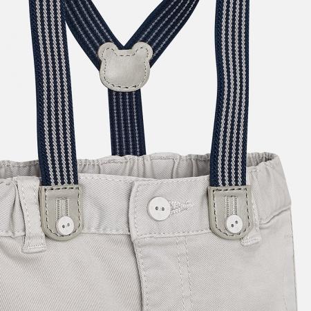 Pantalon lung cu bretele baiat Mayoral, gri2