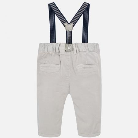Pantalon lung cu bretele baiat Mayoral, gri1