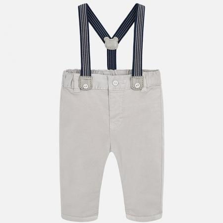 Pantalon lung cu bretele baiat Mayoral, gri0
