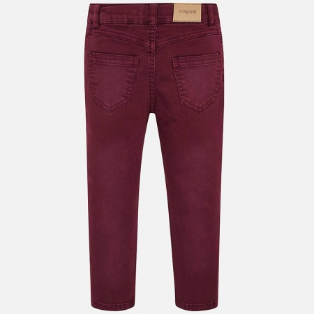 Pantalon lung cu strasuri Mayoral, grena1