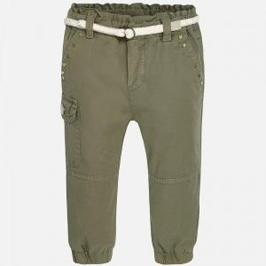 Pantalon lung kaki fete, centura textila, Mayoral1