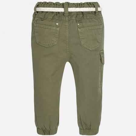 Pantalon lung kaki fete, centura textila, Mayoral0