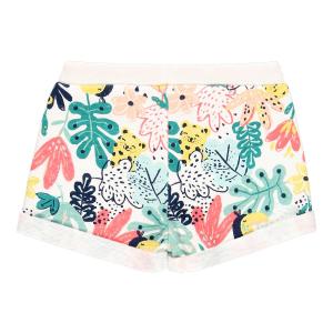 Pantalon scurt fete bumbac, imprimeu multicolor, Boboli1