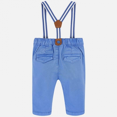 Pantaloni bebe baiat cu bretele, azur, Mayoral1