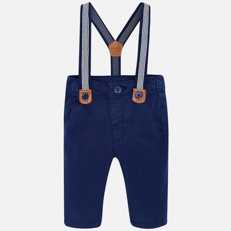 Pantaloni bebe cu bretele, navy, Mayoral0