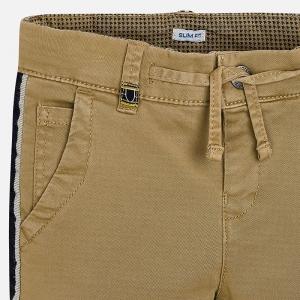 Pantaloni bej cu benzi lateral2