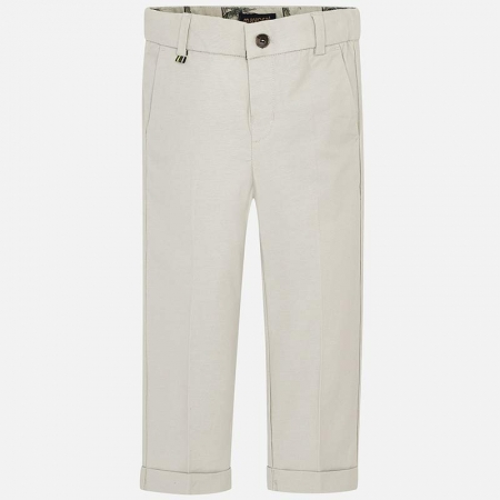 Pantaloni chino lungi de in costum baiat 2-9 ani Mayoral, bej0
