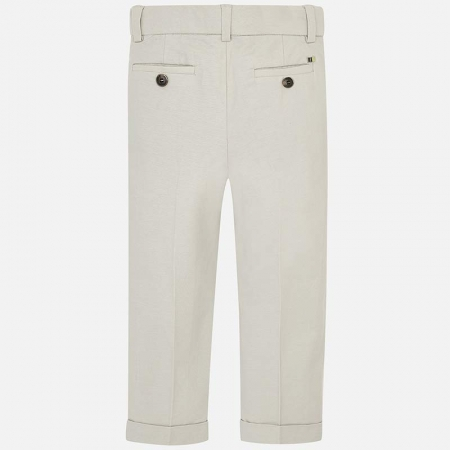 Pantaloni chino lungi de in costum baiat 2-9 ani Mayoral, bej1