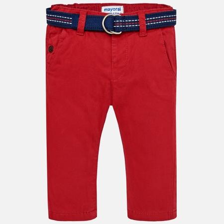 Pantaloni cu curea baiat ,captusiti bbc, Mayoral, culoare rosie0