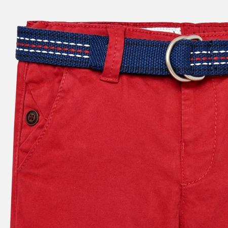 Pantaloni cu curea baiat ,captusiti bbc, Mayoral, culoare rosie2