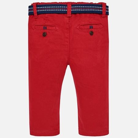 Pantaloni cu curea baiat ,captusiti bbc, Mayoral, culoare rosie1
