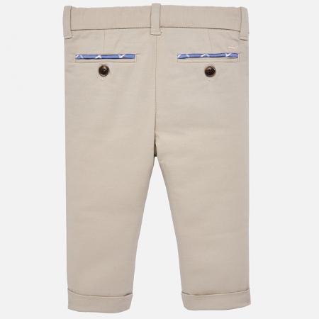 Pantaloni eleganti baieti Mayoral Bej1