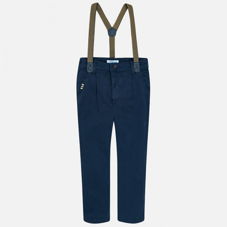 Pantaloni eleganti cu bretele baieti, navy, Mayoral1