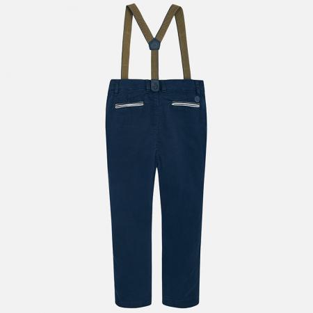 Pantaloni eleganti cu bretele baieti, navy, Mayoral0