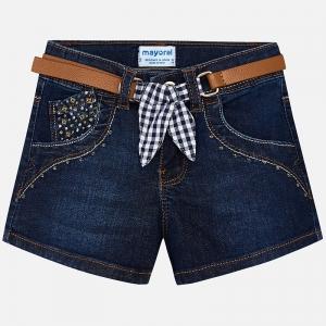 Pantaloni scurti jeans cu curea Mayoral denim [0]