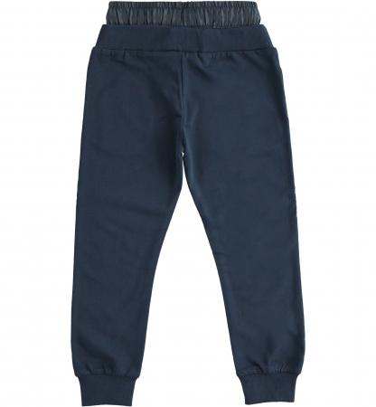 Pantaloni sport baiat, talie joasa, navy, iDO1