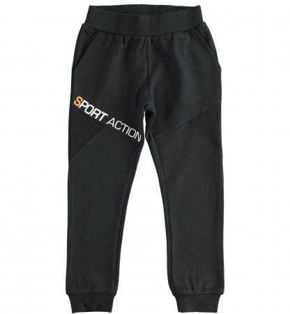 Pantaloni trening baieti, negru, iDO0