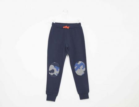 Pantaloni trening baieti , patch camuflaj, Melby [0]