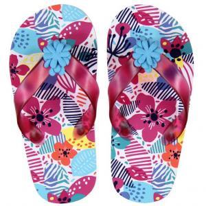 Papuci plaja cu flori Boboli0