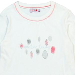Pijama fete bumbac imprimeu frunze Boboli2