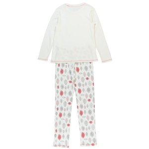 Pijama fete bumbac imprimeu frunze Boboli1