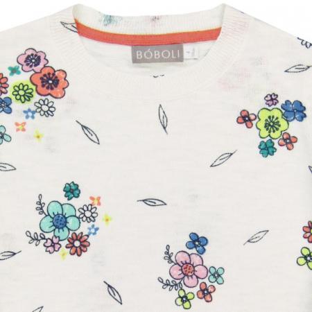 Pulover fete , imprimeu flori,Boboli [2]