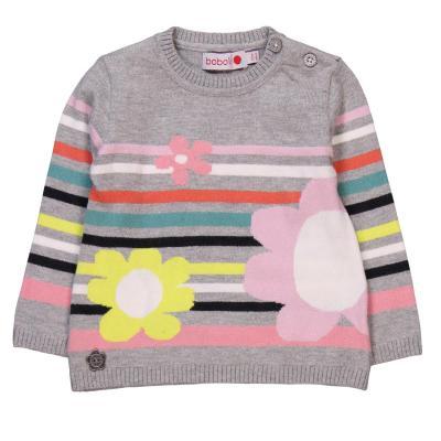 Pulover tricot cu flori Boboli0