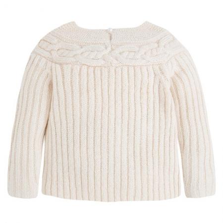 Pulover tricotat cu perle , Mayoral, bej0