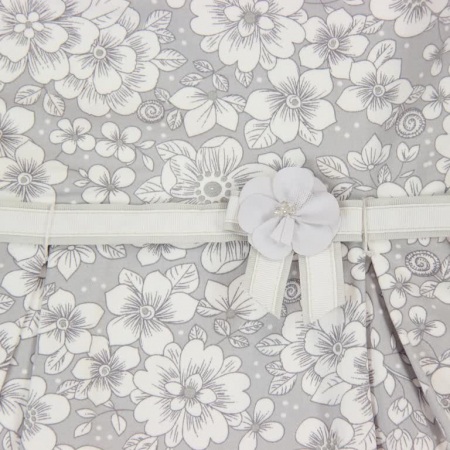 Rochie eleganta cu spate gol, imprimeu flori,gri, Boboli2