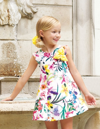 Rochie eleganta fete , imprimeu floral, Abel&Lula0