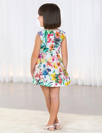Rochie eleganta fete , imprimeu floral, Abel&Lula2